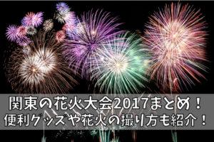 関東の花火大会2017まとめ!便利グッズや花火の撮り方も紹介!