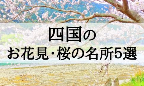 2018年四国地方のお花見・桜の名所5選!見ごろとおすすめポイントを紹介!