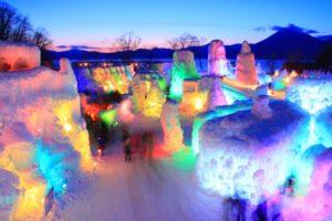 千歳支笏湖氷濤まつり2019の日程や見どころは?支笏湖温泉のおすすめも紹介!